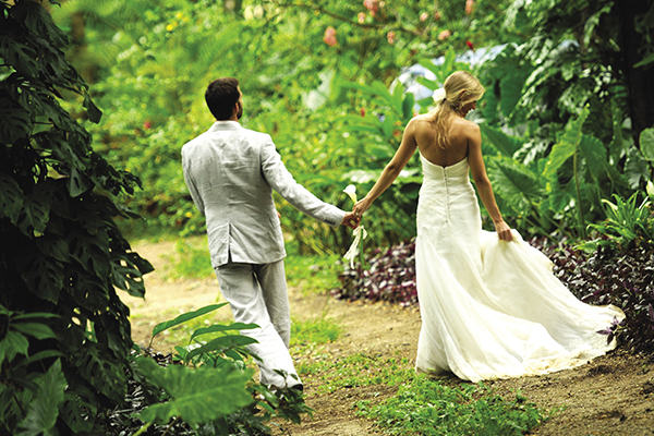 Couples can opt for destination weddings surrounded by lush foliage.