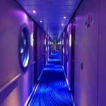 Hall leading to Studios, staterooms for the solo travelers.