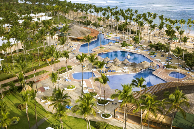 Aerial of Sirenis Punta Cana Resort and Aquagames in the D.R.