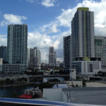 View of Downtown Miami from the bus.