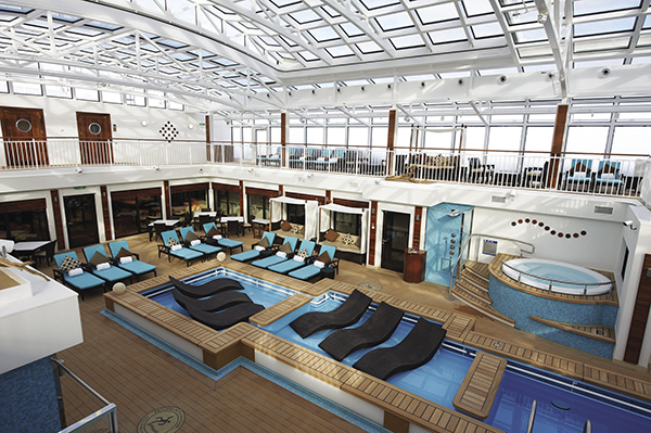 Norwegian Breakaway's Haven courtyard