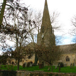 """Church in Bampton where parts of the hit TV series """"Downton Abbey"""" were filmed."""