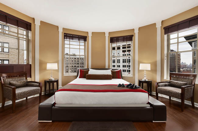 Triumph Hotels' Belleclaire Broadway king room.