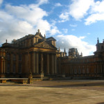 The imposing and beautiful Blenheim Palace near Oxford, England.
