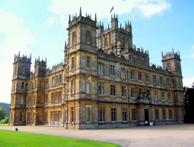 Highclere Castle, the real castle home in Downton Abbey. (Photo credit JBUK_Planet.)