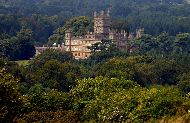 Downton Abbey's famous Highclere Castle. (Photo courtesy of IsramWorld.)