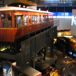 An original car from Liverpool's overhead electric railway system. It was badly damaged after WWII and was too expensive to rebuild.