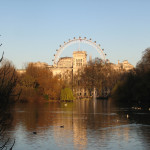 The London Eye in the distance.
