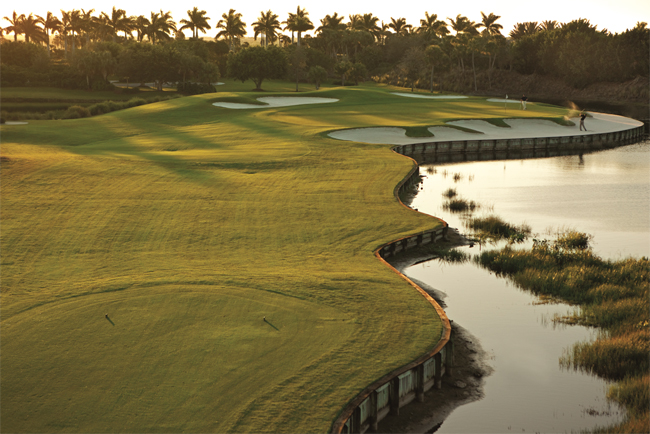The Gulf Coast's Marco Island's Marriott gives golfers time on the green on. (Photo courtesy of Marco Island Marriott Beach Resort Golf Club & Spa.)