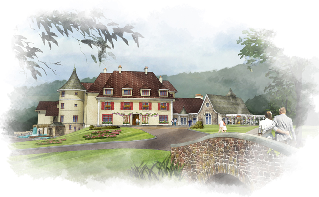 Rendering of the new property, Mirbeau Inn Spa at The Pinehills.