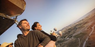 Hot air balloon ride over Turkey with G Adventures