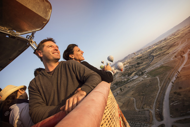 Hot air balloon ride over Turkey with G Adventures.