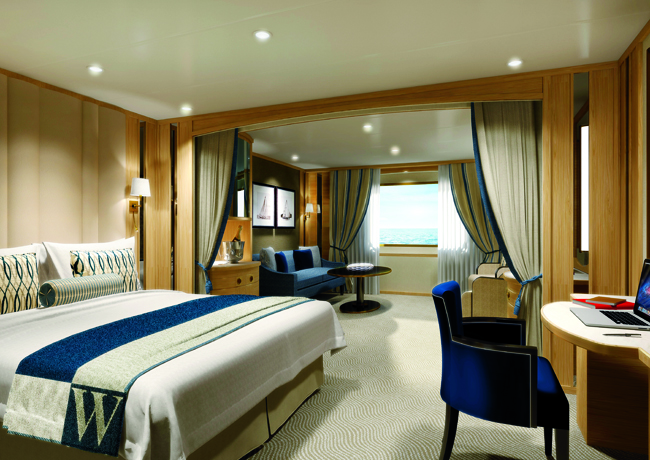 Windstar cruise's suites.