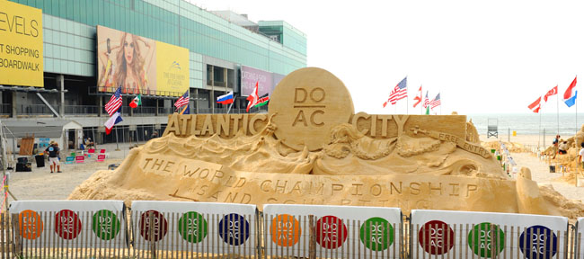 Last summer's World Championship of Sand Sculpting. (Photo credit Peter Tobia/Atlantic City Alliance.)