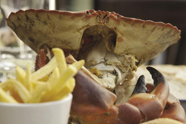 Crab at Fishy Fishy Restaurant, Brighton, East Sussex, England