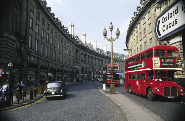 London cabs and buses, England