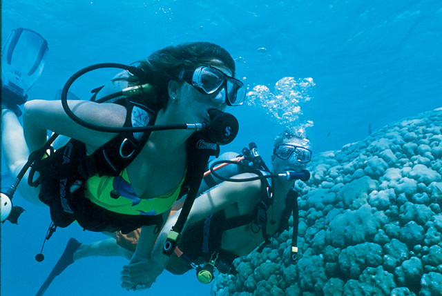 Scuba diving with Sandals Resorts and Beach Resorts.