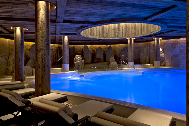 The Alpina Gstaad Six Senses Spa.