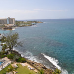Views from the balcony of the Ocean View room at The Condado Plaza Hilton.