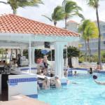 Swim-up bar at the pool at Caribe Hilton Hotel.