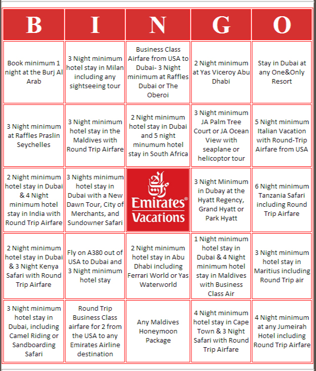 Agents can use this  Bingo card to play.