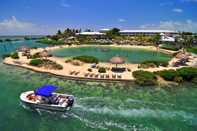 Hawks Cay Resort Salt Water Lagoon and Boat
