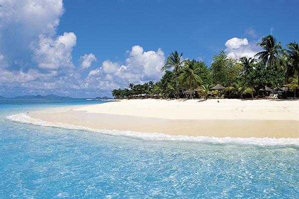 Beachside on Palm Island.
