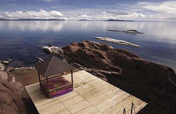 Titilaka Lodge in Peru offers extraordinary views of Lake Titicaca.