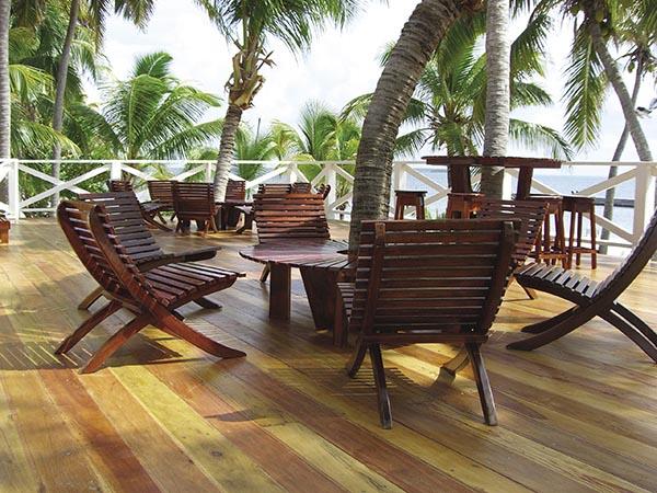 Turneffe Island Resort on little Caye Bokel in Belize.