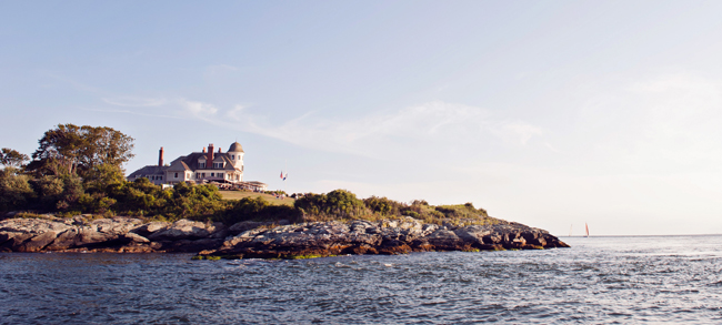 Views of Castle Hill Inn from the water. (Photo courtesy of Castle Hill Inn.)