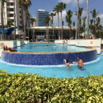 Views from the pool at Caribe Hilton.