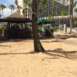 The first beachside Starbucks in the world—complete with hammocks all around at Caribe Hilton.