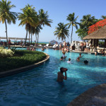 The lively pool, complete with swim up bar, at El San Juan Resort & Casino.