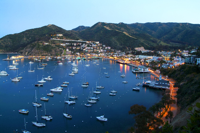 Aerial view of Santa Catalina.