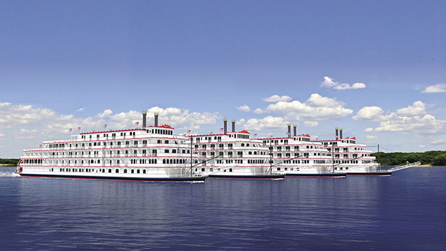 American Cruise Lines' fleet will include four paddlewheelers.
