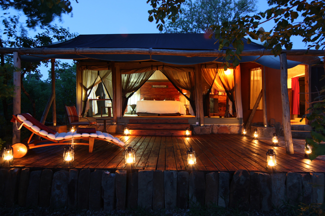 Lodging at Azura Selous in Tanzania.