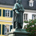 Statue of Beethoven in Bonn, where the composer was born.