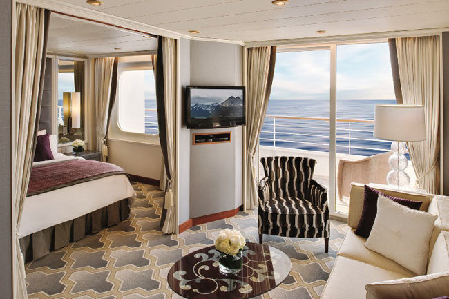 The Crystal Serenity Penthouse Suite.