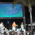 The Sharks performed at the Grand Opening White party—they've opened for the Beach Boys.