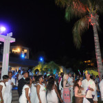 Guests partying and celebrating the Key West Luxury Village grand opening.