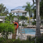 The Key West Luxury Village pool is the perfect place to escape for some quiet time.