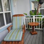 Lounge chairs in the Villas front porch.