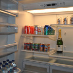 The fridge comes stocked and gets replenished throughout the stay. There's something for kids and adults to enjoy.