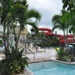 Slides at the Waterpark of Beaches Resorts.