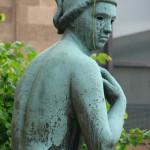 Statue in front of the Museum Kunstpalast in Dusseldorf.