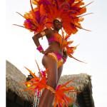 Sandals LaSource Grand Opening Carnival dancer.