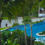 The plunge pool at Sandals LaSource's Italian Village.