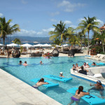 The pool at Sandals LaSource.