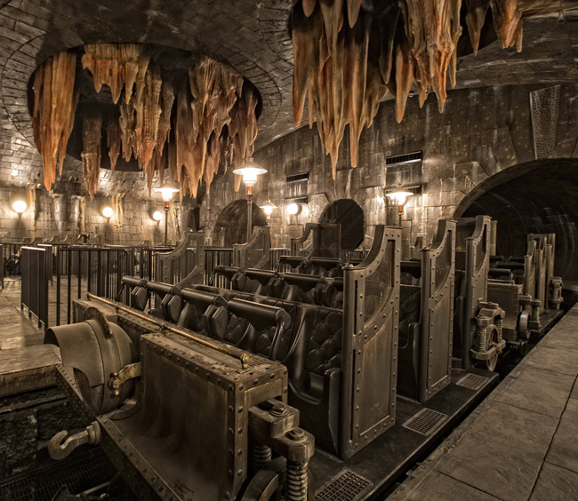 This summer, guests can experience the next generation thrill ride, Harry Potter and the Escape from Gringotts. (Photo courtesy of Universal Studios.)
