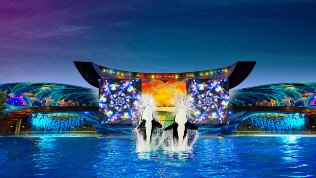 SeaWorld's Shamu's Celebration: Light Up the Night.